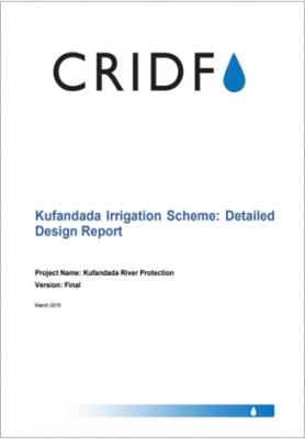 Kufandada Irrigation Scheme: Detailed Design Report thumbnail