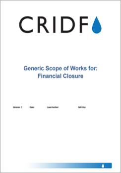 CRIDF Generic Scope of Works for the Financial Closure Stage thumbnail