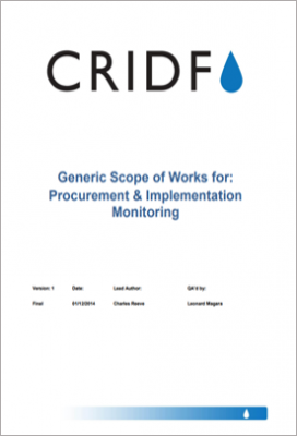 CRIDF Generic Scope of Works for the Procurement and Implementation Monitoring Stages thumbnail
