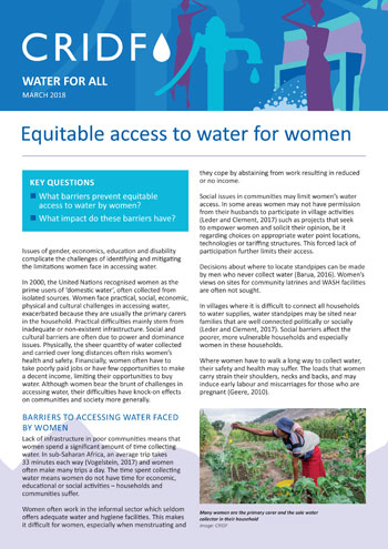 Water for all: equitable access for women