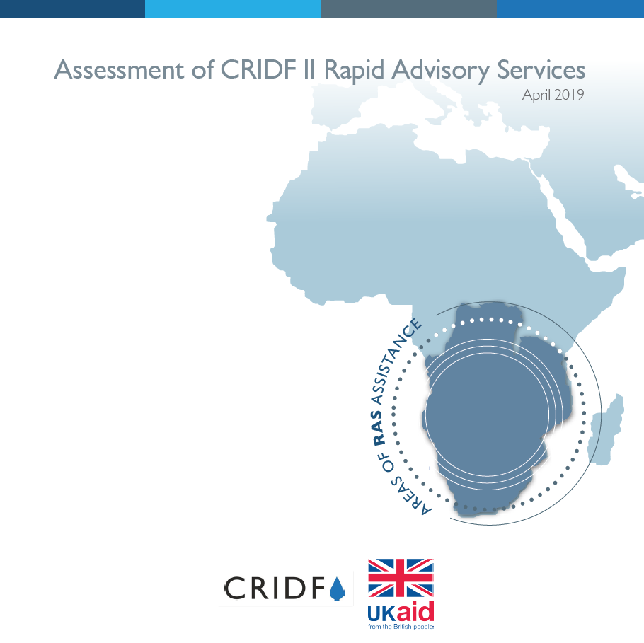 Assessment of CRIDF II Rapid Advisory Services