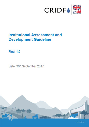Institutional assessment and development guideline